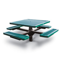 Plastisol Covered Expanded Steel Style Picnic Table
