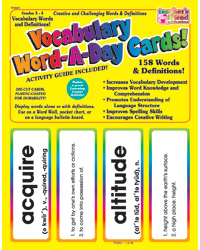 Vocabulary Word-A-Day Cards