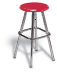 Adjustable Height Steel and Plastic Stools