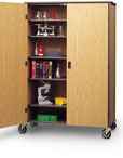 Locking Microscope Storage Cabinet