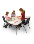 Colorful Banded Activity Tables