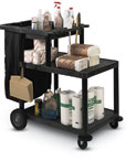 Three Shelf Clean-Up Cart