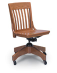 Solid Oak Teacher's Swivel Chair