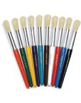 Colored Wood Brushes