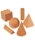 Hardwood Geometric Solids Set