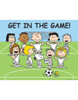 Peanuts Get In The Game Poster