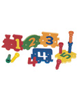 Soft Number Train & Peg Puzzles